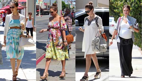 398258 jessicaalba Grávidas e estilosas: looks das celebridades grávidas