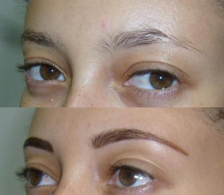 400862 Antes e depois da sobrancelha tingida Sobrancelha: como tingir