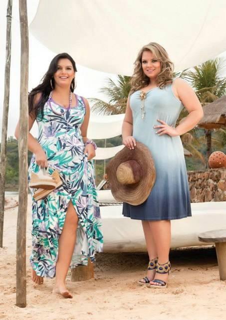 400903 2 Modelos de vestidos plus size modernos