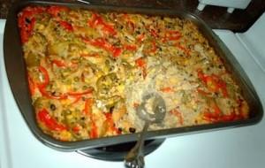 Arroz de forno com bacalhau