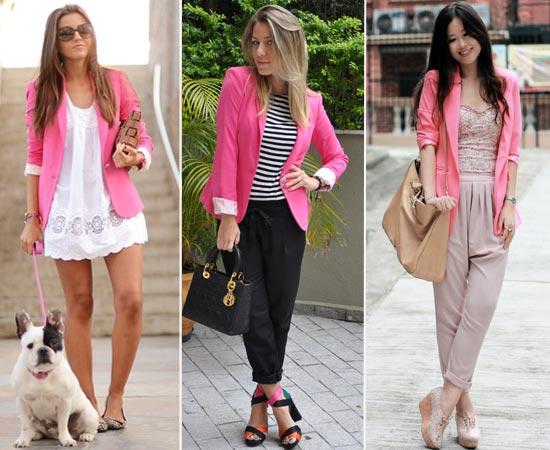 403451 moda blazer rosa Terninhos femininos: como usar