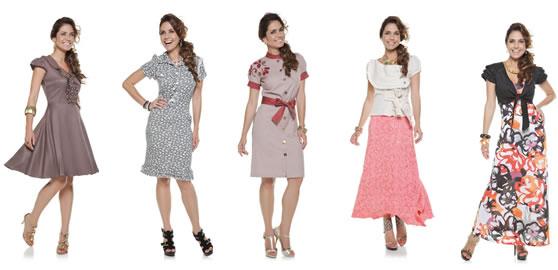 404252 Moda para evangelicas saias e vestidos Moda evangélica 2012 vestidos