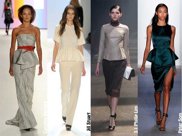 404298 peplum Principais tendências da semana de moda de Nova York: inverno 2012