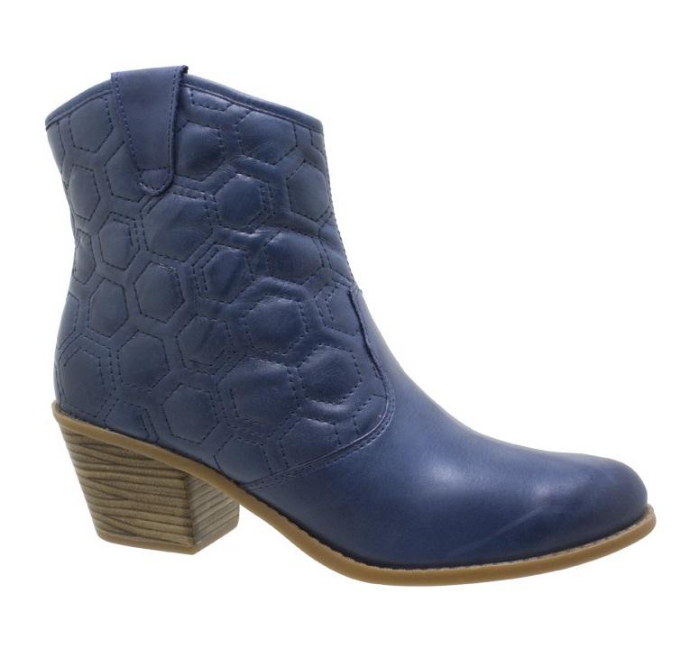 404758 Bota Cano Curto Bottero Belezinha Aquele Beijo Couro Azul Botas inverno 2012 – lançamentos, tendências, moda