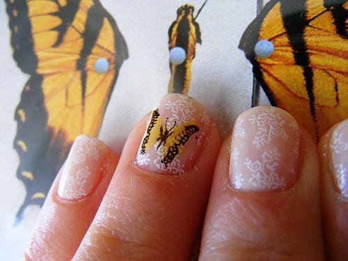404948 Unhas decoradas com borboletas podem ser usadas no dia a dia Unhas decoradas com borboletas: como fazer, fotos