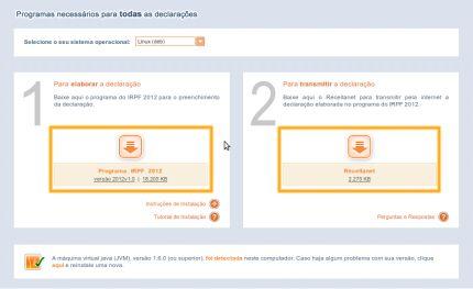 405332 receita irpf 2012 download e instalacao do programa 2 Receita IR 2012: donwload e instalação do programa