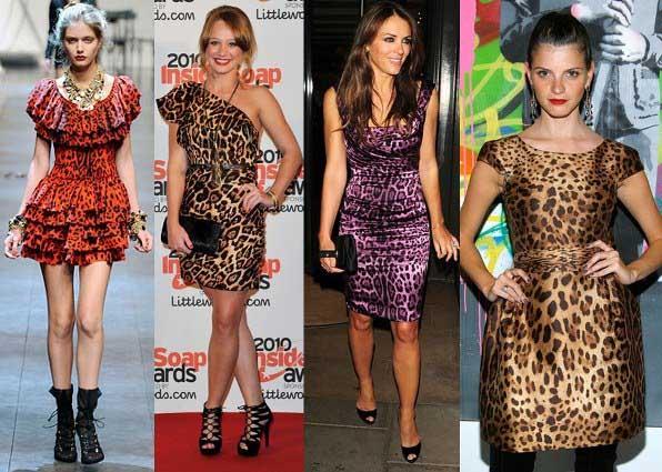 407411 O Animal Print continua em alta Vestidos para baladas: modelos, fotos