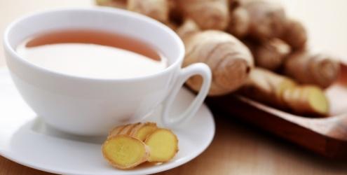 407577 Chá de Gengibre auxilia na cura da cefaléia Chá para curar dor de cabeça