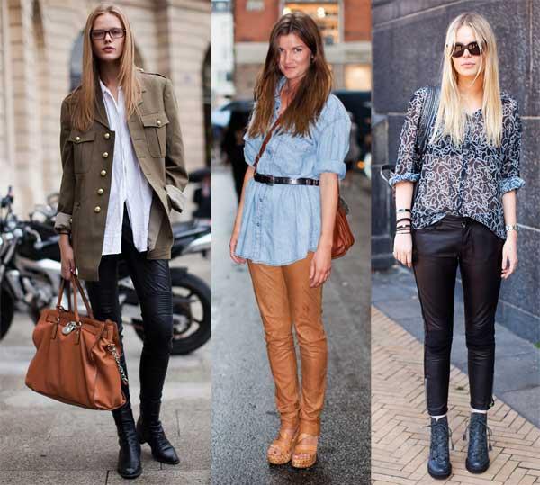 409138 como usar calca de couro com camisa 3 Como usar calça de couro: tendência para o inverno 2012