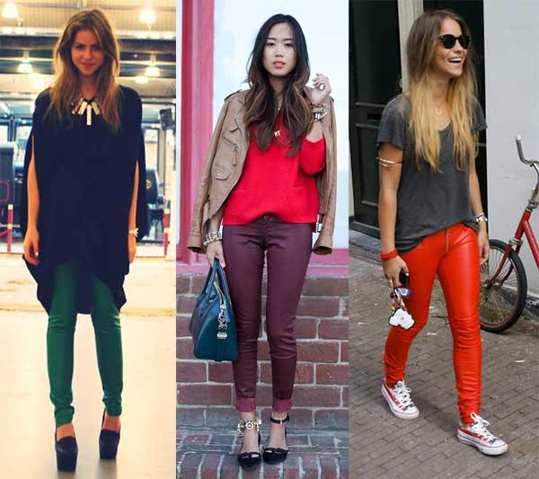 409138 como usar calca de couro com como usar calca de couro com colorida 6 Como usar calça de couro: tendência para o inverno 2012