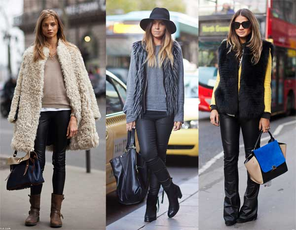 409138 como usar calca de couro com pele 8 Como usar calça de couro: tendência para o inverno 2012