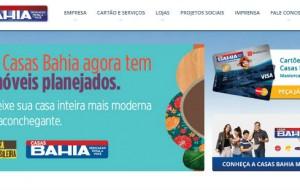 Site das Casas Bahia: www.casasbahia.com.br