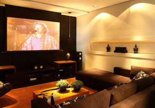 Sala de tv decora o dicas - Sala home cinema ...