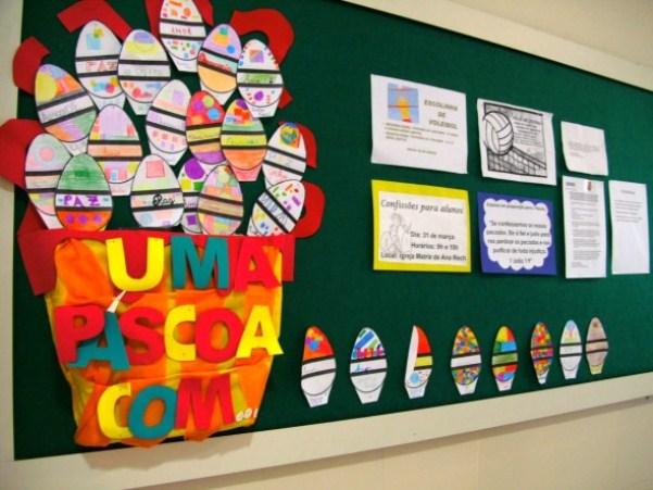 decoracao de sala aula educacao infantil : decoracao de sala aula educacao infantil:decoracao de pascoa para sala de aula 2 Decoração de Páscoa para