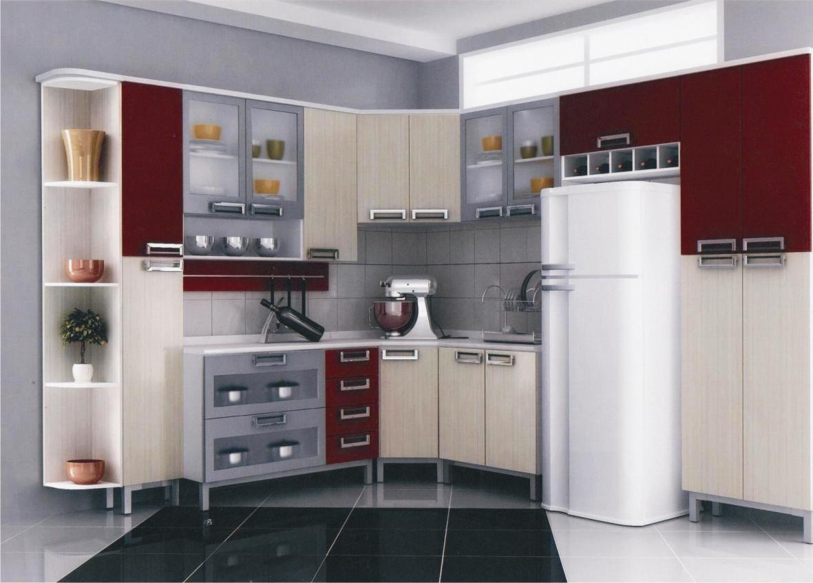 Cozinha Compacta Itatiaia Diamante com Armário Triplo com Holiday  #5F2829 1181 847