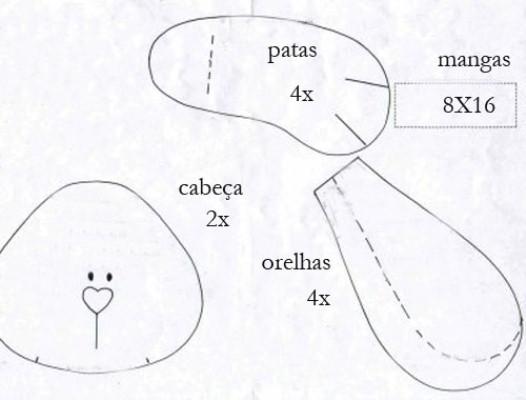 413931 Coelho da Páscoa de feltro moldes 7 Coelho da Páscoa de feltro: moldes