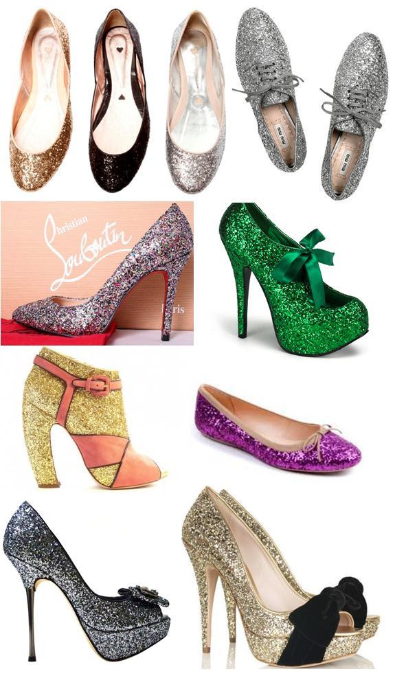 415400 glitter Sapatos com Brilhos   Modelos, fotos