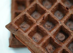 415884 Receita de waffle de chocolate. 1 Receita de waffle de chocolate