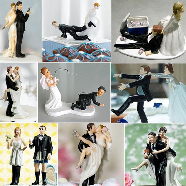 416956 bolo de casamento 2013 3 Decoração de bolo de casamento engraçada