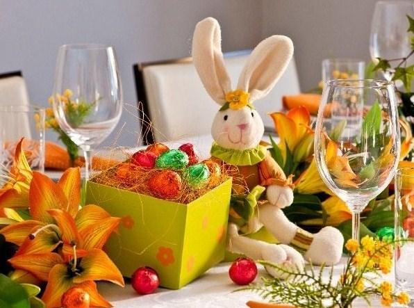 417238 Pascoa mesa decorada Centro de mesa para Páscoa: fotos, dicas