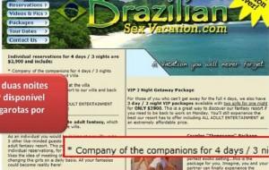 Ministério notifica sites por relacionar o Brasil a turismo sexual