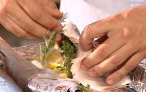 Receita de peixe assado com alecrim