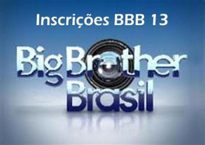 421759 Inscrições BBB 13 como se inscrever2 Inscrições BBB 13   como se inscrever