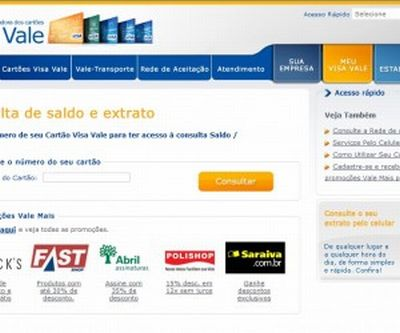422643 consultar saldo visa vale extrato informacoes 1 Consultar saldo Visa Vale   Extrato, informações