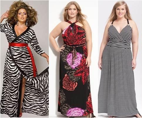 423085 Vestidos longos estampados para gordinhas 2 Vestidos longos estampados para gordinhas