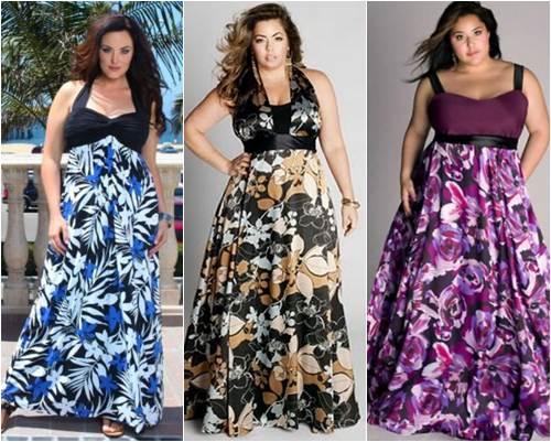 423085 Vestidos longos estampados para gordinhas 3 Vestidos longos estampados para gordinhas