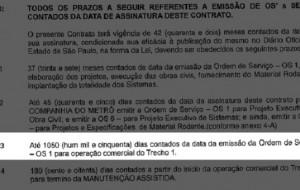 Acordo do governo estabelece entrega do monotrilho 15 dias após início da Copa