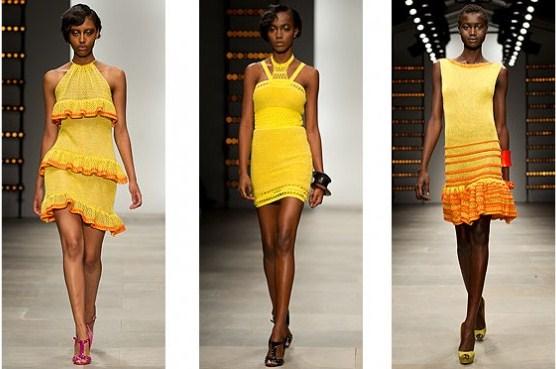 424052 Cores vibrantes são tendências para 2012 Modelos de vestidos casuais