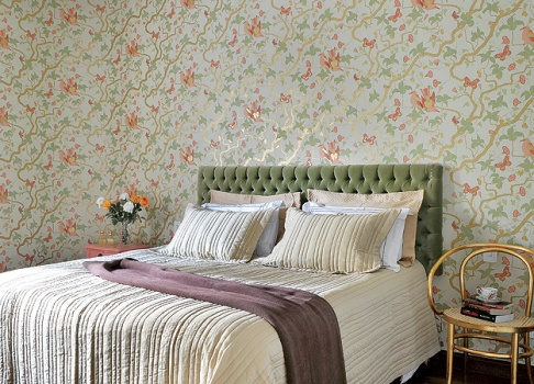 424437 Quarto decorado com papel de parede dicas ideias 1 Quarto decorado com papel de parede: dicas, ideias