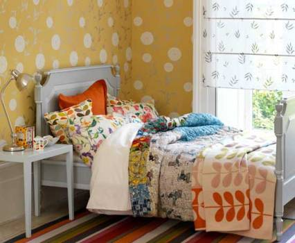 424437 Quarto decorado com papel de parede dicas ideias 2 Quarto decorado com papel de parede: dicas, ideias