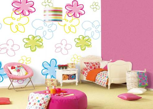 424437 Quarto decorado com papel de parede dicas ideias 3 Quarto decorado com papel de parede: dicas, ideias