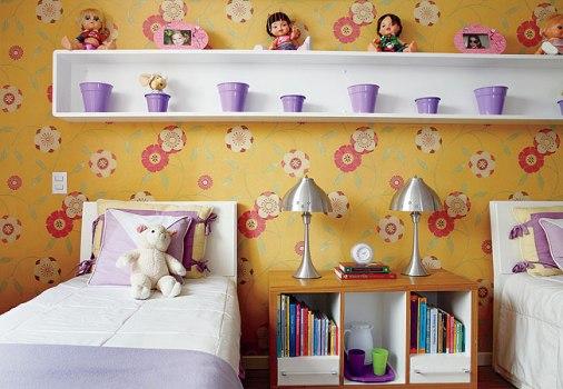 424437 Quarto decorado com papel de parede dicas ideias Quarto decorado com papel de parede: dicas, ideias