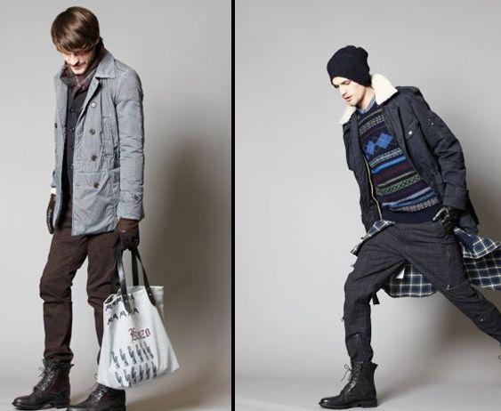 424716 Estampa xadrez e tons sóbrios são perfeitos para montar um look sem errar Moda masculina inverno 2012: tendências