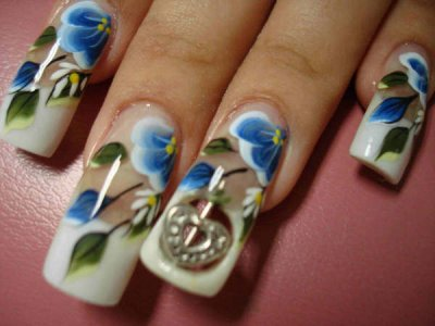 426370 unhas decoradas com flores fotos 1 Unhas decoradas com flores: fotos