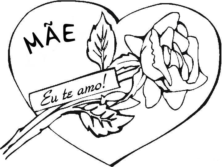 428204 Dia das Mães desenhos para colorir 21 Dia das mães   desenhos para colorir