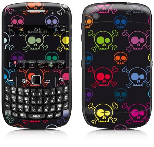 428719 blackberry8520 caveiras neon 1 Lojas de skins para celular