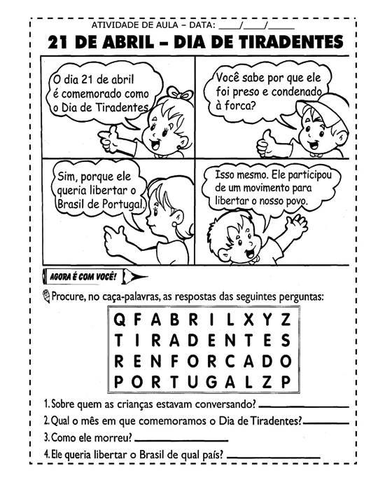 429272 Atividades infantis para o dia de Tiradentes 6 Atividades infantis para o dia de Tiradentes