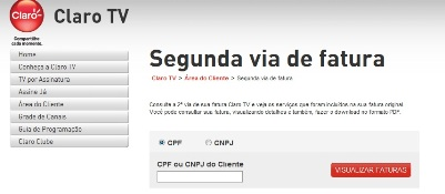 430054 Claro TV 2ª via de conta 3 Claro TV: 2ª via de conta