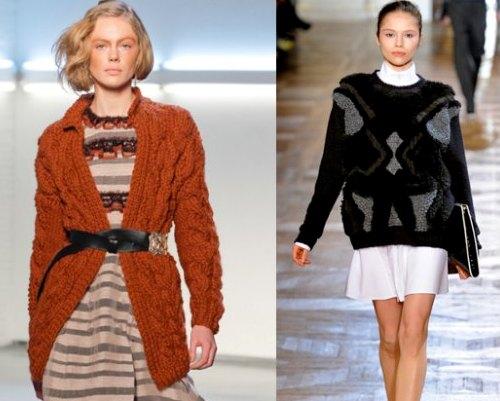 433018 As sobreposições são tendências Dicas para usar tricô no inverno 2012