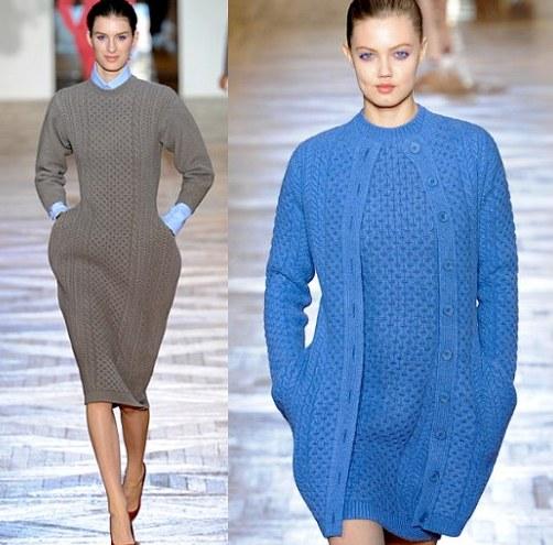 433018 Os vestidos são lindos e muito elegantes Dicas para usar tricô no inverno 2012