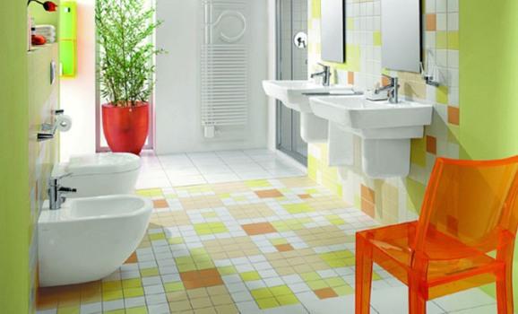 decorar um banheiro: Banheiro colorido como decorar 1 Banheiro colorido: como decorar