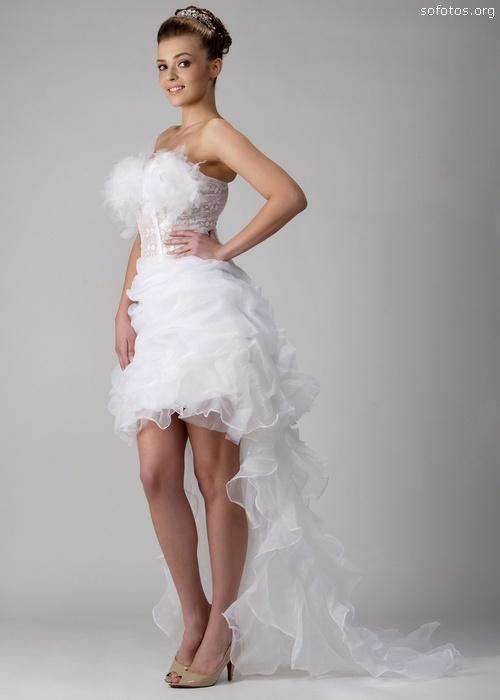 435441 Vestidos de noiva curtos fotos 02 Vestidos de noiva curtos: fotos