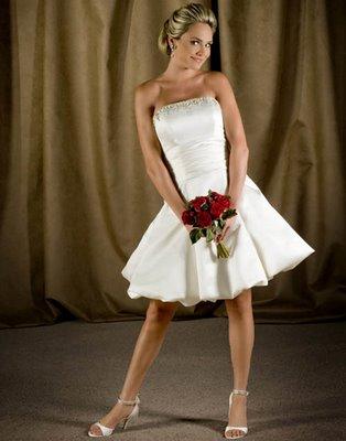 435441 Vestidos de noiva curtos fotos 05 Vestidos de noiva curtos: fotos