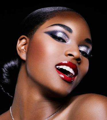 436391 Maquiagem colorida para pele negra Maquiagem colorida para pele negra