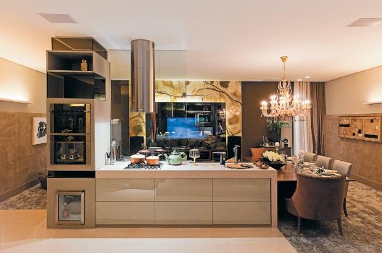 Cozinhas gourmets integradas com a sala - Armarios para sala de estar ...