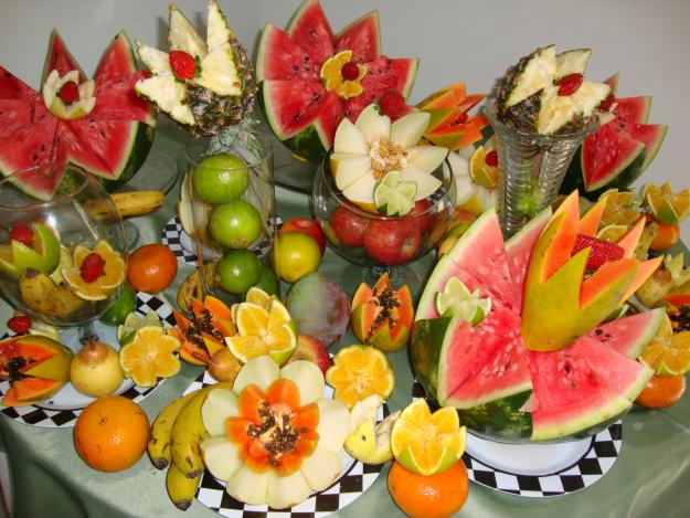 im genes de mesas decoradas con frutas imagui